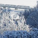 Мост через Волгу в Ульяновске