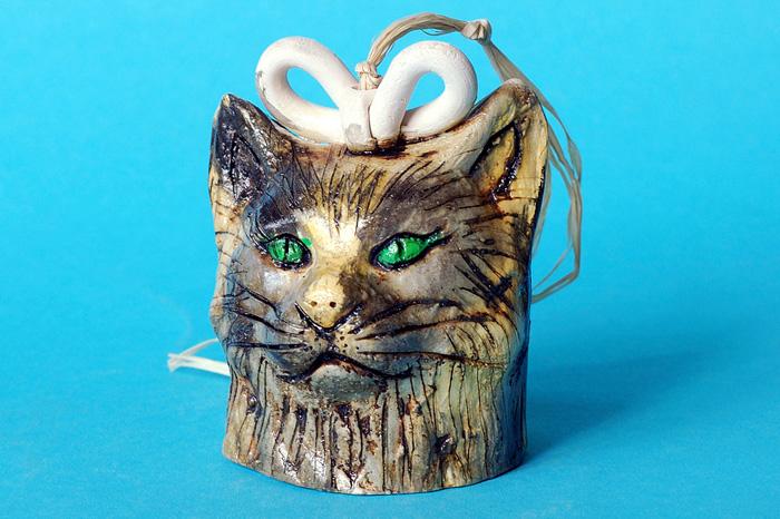 Колокольчик в форме кошачьей головы