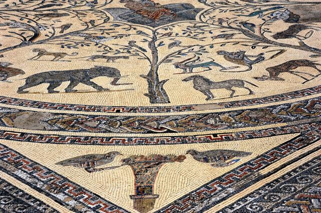 Мозаика в Доме Орфея