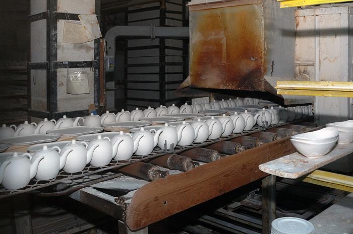 Первый обжиг чайников
