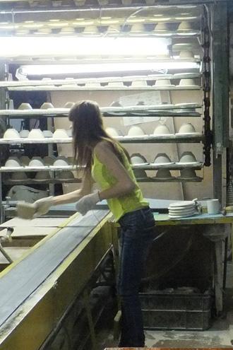 На фарфоровом заводе