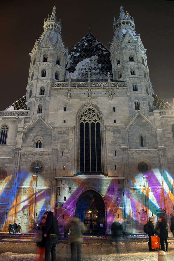 Вена зимой. Собор святого Стефана